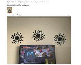 Ingrosso 1PC PS Materiale Adesivi murali specchio solare Adesivo riflettente Decorazione camera Adesivi murali Decorazioni per la casa Soggiorno