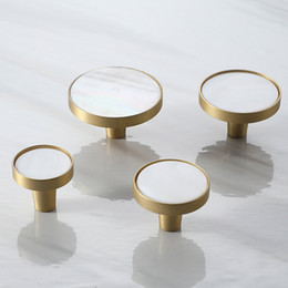 Kitchens prices online shopping - New designs Brass Shell Kitchen Drawer Cabinet Door Knobs Handles factory price Furniture hardware Cupboard Pulls