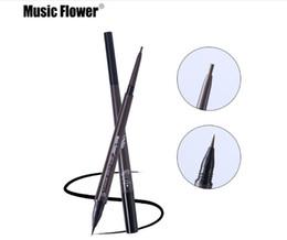 Hot Item Musik Blume Augen Make-up Matte Doppelkopf Augenbrauenstift + Flüssige Augenbrauen Tönung Waterpoof Langlebige Naturkosmetik