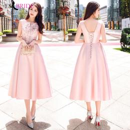 $enCountryForm.capitalKeyWord Australia - Evening Dresses Long 2019 Pink Simple Plus Size O-neck Sleeveless Wedding Guest Gown Backless Elegant Abito Da Cerimonia ES1529