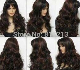$enCountryForm.capitalKeyWord Australia - LL 700 long black mixed red curly health hair wig