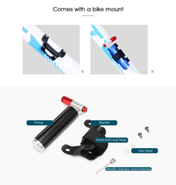 presta valve bicycle NZ - Deemount CO2 Bicycle Pump For 16 Gram Non Threaded Cartridge Bike Tire Ball Portable Inflator Dual Head Presta Schrader Valve