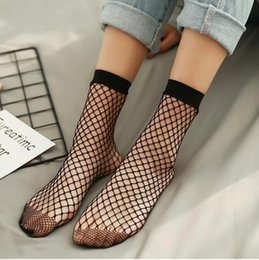Ladies fishnet socks online shopping - Chic Streetwear Women s Harajuku Candy Color Breathable Fishnet Socks Sexy Hollow out Nets Socks Ladies Sweet Mesh Sox