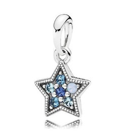 Multi colored bracelets online shopping - Original Sterling Silver Bead Charm Bright Star With Multi Colored Crystals Pendant Fit Bracelet Necklace Jewelry