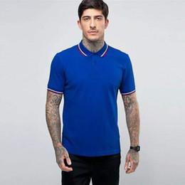 $enCountryForm.capitalKeyWord Australia - Supply High Quality Men Classic Polo Shirts Perry Leaf Embroidery Cotton Short Sleeve London Brit Polos England Casual Shirt White Blue