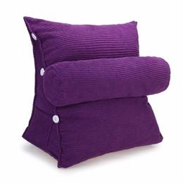 $enCountryForm.capitalKeyWord UK - Adeeing Triangle Sofa Cushion Pillow Bed Lumbar Pad Fashion Household Decoration Pure Color Christmas Gift Q190429