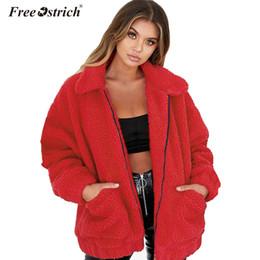 $enCountryForm.capitalKeyWord Australia - Free Ostrich faux jacket coat women autumn winter warm thick teddy plus size coat female casual overcoat oversize outerwear N30