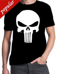 O Justiceiro Inspirado Clássico Logotipo Do Crânio Comic Book Filme de Ação Nova T-Shirt 100% Algodão T Camisas Roupas de Marca Tops Tees venda por atacado