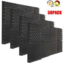 insulation wall panels Australia - 50PCS Studio Equipment EGGCRATE Sound Treatment Acoustic Foam Sound Insulation Soundproof Absorption Wall Panel Tiles 12x12x2