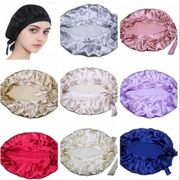 Chinese  100% Natural Silk Sleep Night Cap For Women Fashion Best Quality Ladies Head Cover Bonnet for Hair Beauty Factory Sale manufacturers