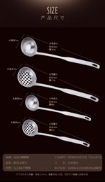 $enCountryForm.capitalKeyWord Australia - 304 stainless steel colander set kitchen thickened hot pot soup ladle long handle kitchen utensils set ladle spoon