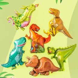 Dinosaur Cartoon Movie Australia - Jurassic movie series balloon dinosaur cartoon aluminum film balloon tyrannosaurus rex dinosaur mini series