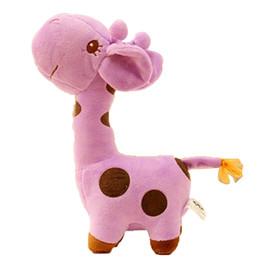 $enCountryForm.capitalKeyWord Australia - Baby Soft Plush Toy Cute Plush Giraffe Colorful Doll Gift 18cm Small Baby Birthday Gift To A Child
