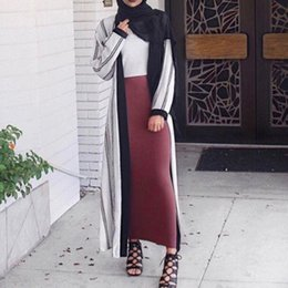 $enCountryForm.capitalKeyWord Australia - 2018 Bodycon Solid Skirts Womens Jupe Longue Elegant Modest Muslim Islamic Warm Pencil Skirt Long Skirt Thick Bandage Maxi Skirt Y19060301