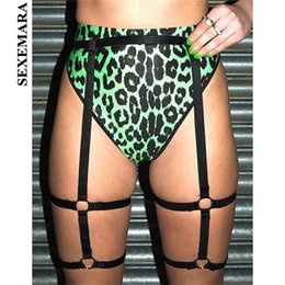 $enCountryForm.capitalKeyWord NZ - SEXEMARA Sexy Underwear Women Fashion High Waist Leopard Print Gradient Neon Green Pink Panties Cute Animal Lingerie C83-F44