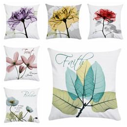 spring handmade decorations NZ - beautiful flower print cushion cover spring home decoration soft chaise lounge throw pillow case modern country decor