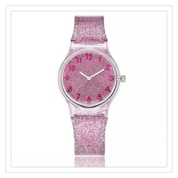 Unique Gifts For Ladies Australia - 2019 Women Watches Lovely Silicone Transparent Plastic Unique Ladies Girls Dress Quartz Wrist Watch For Gift
