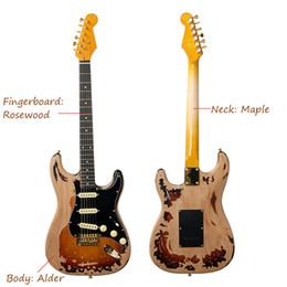 Custom Guitars Bodies Australia - Aged Relic SRV guitar 10S Custom Shop Masterbuilt Limited Edition Stevie Ray Vaughan Relic SRV Electric Guitar Eged Hardware Alder Body Sunb