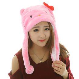 $enCountryForm.capitalKeyWord UK - WINTER Cartoon Animal Hat Fluffy Plush Cap Unisex Perfect Gift Kids Novelty gift for boy girl friend With Ear Flap