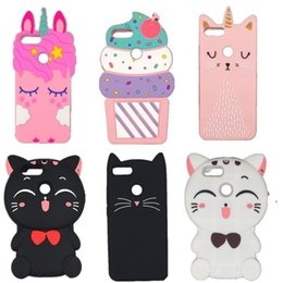 $enCountryForm.capitalKeyWord NZ - For Honor 9 Lite cute 3D Cartoon Eyelash Pink unicorn horse Luna Cat Soft Silicone Cover Case For Huawei Honor 9 Lite Phone case