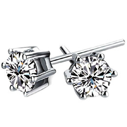 ee9557fe6 6MM Cubic Zirconia Stud Earrings for Women Men Classic Fashion Jewelry  Accessories Ear Studs Embellished With Crystals From Swarovski WB102