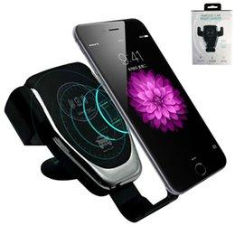 QI Wireless Charger Быстрые беспроводные зарядные устройства для сотовых телефонов Gravity Compatible Charging Автомобильные подставки для телефона Держатель автомобильного телефона Беспроводное зарядное устройство