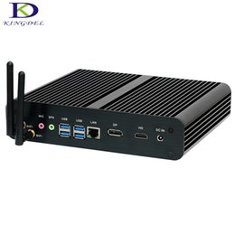 Discount 4k mini pc - New arrived fanless mini computer NUC i7 6500U i7 6600U Max 16GB RAM DP HDMI 4K,Mini pc for home&office NC360