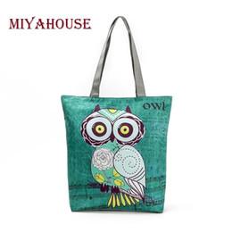 $enCountryForm.capitalKeyWord Australia - Miyahouse Cute Owl Printed Women's Casual Tote Large Capacity Canvas Female Shopping Bag Ladies Shoulder Handbag Beach Bag