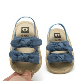 $enCountryForm.capitalKeyWord Australia - Summer Infant Baby Shoes 2019 Newborn Girl Sandals Toddler Baby Soft Sole Bowknot Shoes Crib Prewalker