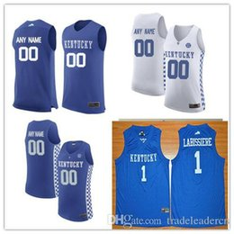 Discount mens basketball jerseys - Custom Mens Kentucky Wildcats College Basketball royal blue white Personalized Stitched Any Name Any Number customized #