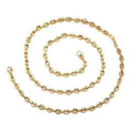$enCountryForm.capitalKeyWord UK - (TN-0044) 316L Titanium steel 60 cm x 5 mm Long Coffee Beans Necklaces 60 CM for Men No Fade 18k Gold   White Color