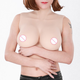 tit 2019 - Top quality E Cup Realistic Silicone Breast Forms Artificial Boobs Enhancer Crossdresser vagina for man shemale Trandsge