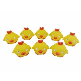 wholesale plastic birds Canada - 2019 New Soft Plastic Kneading Called Bird 8 Pieces bag 6cm Plastic Bath Bird Toys Baby Gift toys Wholesales L414