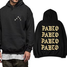 hip hop belts for men Australia - 2017 New Men Women I Feel Like Pablo Hoodies Sweatshirts Hip Hop Fleece Hoodie Tracksuit For Autumn Winter