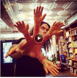 $enCountryForm.capitalKeyWord Australia - Cartoon Funny Finger Hands and Finger Feet Set Creative Finger Toys for Children Educational Joke Fun Hand Horror Model Toys