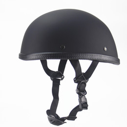 $enCountryForm.capitalKeyWord Australia - Vintage Half Face Motorcycle Helmet Retro German Cafe Racer Scooter Cruiser Capacete DOT approved,ABS