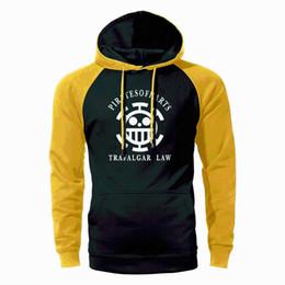 One piece trafalgar law hOOdie online shopping - One Piece Hoodie Men Trafalgar Law Raglan Hoodies Sweatshirts Spring Autumn Loose Streetwear The Pirate King Luffy Sportswear