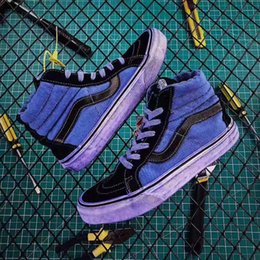 2019 New Vans Unisex Authentic CA Overwashed Sk8 hi Blue Men Casual shoes  Skate Canvas Sports mens Running Shoes vans Sneakers Trainers b3f641998