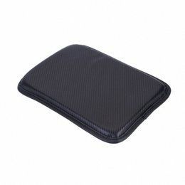 arm console UK - Leather Cushion Universal Car Arm Rest Box Cover Pad Center Console Dust Proof Armrests Interior Styling Replacement 20fm#