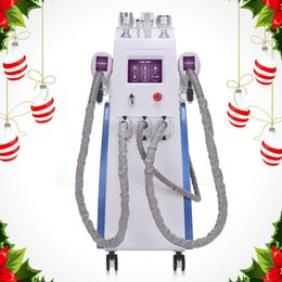Discount cavitation pads - Free shipping Best selling 6 IN 1 cryolipolysis machine diode lipo laser pads cavitation skin tightening slimming coolin