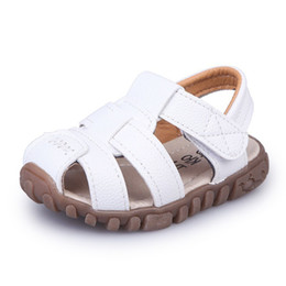 $enCountryForm.capitalKeyWord Canada - Summer Baby Boy Shoes Kids Beach Sandals For Boys Soft Leather Bottom Non-slip Closed Toe Safty Shoes Children Shoes