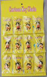Anime One Piece Keychains Japanischen Cartoon PVC Ruffy Schädel Skeleton Autoschlüssel Halter Kette Schlüsselanhänger Schmuck Bester Freund Geschenk