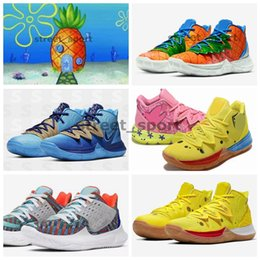 RubbeR body belt online shopping - 2020 Pineapple House Kyrie Mens TV PE Basketball Shoes s Concepts Low Multi Color Orion s Belt Graffiti x Sponge Sports Kyries Sneakers