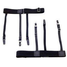 Men's Accessories 2019 Latest Design Mens Shirt Crease-resist Anti-skid Clip Legs Thigh Elastic Adjustable Suspender Holder Stays Garters For Gentlemen A30