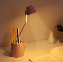 learning switch Australia - Creative multi-function small love table lamp USB rechargeable touch student dormitory desktop eye learning LED table lamp