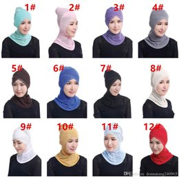 lace hijab caps Australia - HOT New Beautiful Muslim Lace Trim Mesh Hijabs Muslim Arabic Hijab Casual Wear Turban Hat Cap Ethnic Wrap