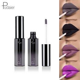 $enCountryForm.capitalKeyWord NZ - Pudaier New Matte Liquid Lipstick Sexy Women Levre Lipgloss Black Grey Purple Color Batom Kit Mate Lip Tint Nutritious Makeup