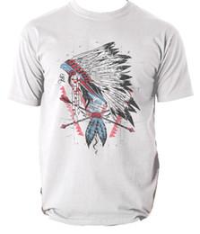 Indian Men S T Shirt NZ - The leader t shirt Indian vintage spirit S-3XL Men Women Unisex Fashion tshirt Free Shipping black