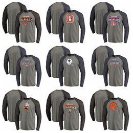T Shirt Compressed Australia - Broncos Denver Dallas Cowboys Browns Cleveland Bengals Cincinnati Pro Line by Fanatics Branded Freedom Long Sleeve Tri-Blend Raglan T-Shirt