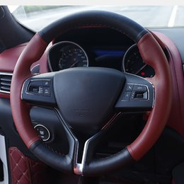 $enCountryForm.capitalKeyWord Australia - 1pc for Maserati Levante ghibl Steering wheel cover Hand sewing top layer leather